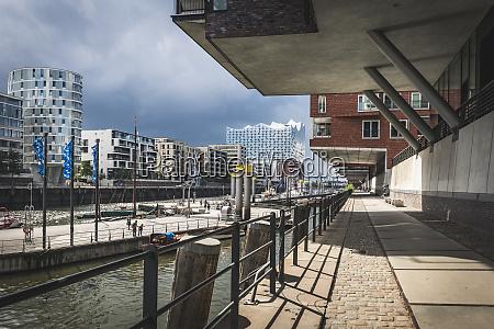germany hamburg hafencity sandtorhafen view of