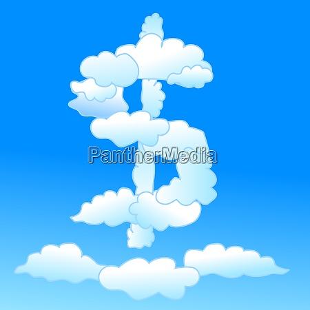cloudy dollar symbol