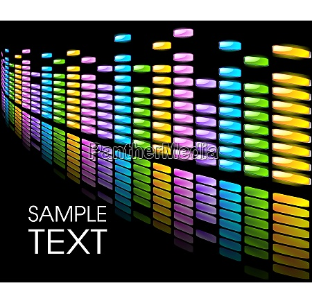abstract background with colorful equalizer on