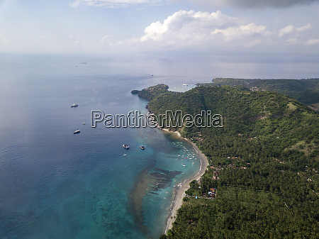 indonesia bali aerial view of beach