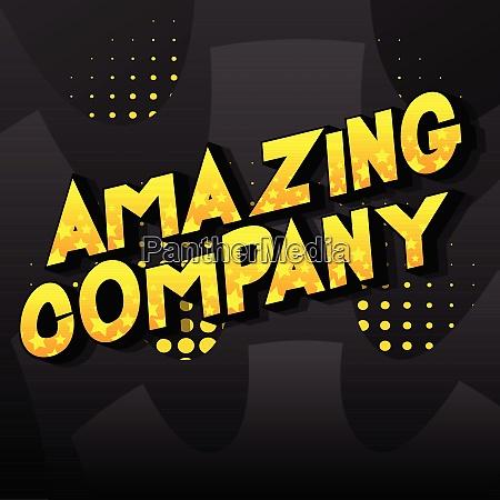 amazing company comic book style