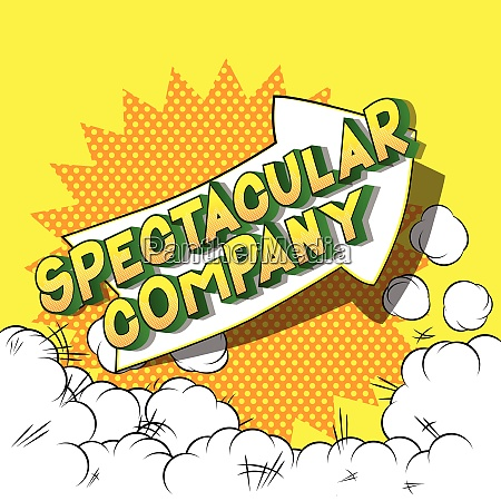 spectacular company comic book style