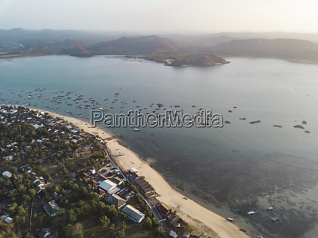 indonesia lombok aerial view of lobster