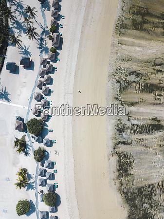 indonesia lombok kuta aerial view of