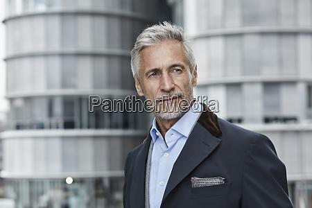germany duesseldorf portrait of fashionable mature