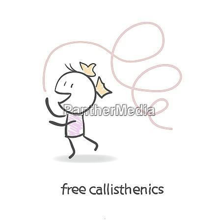 free gymnastics with ribbon