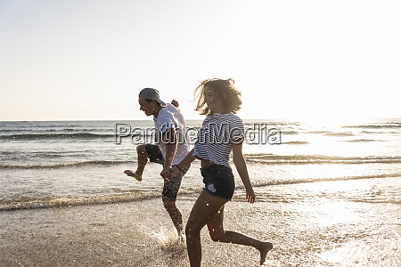 young couple having fun at the