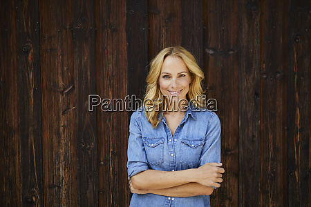 portrait of smiling blond woman in