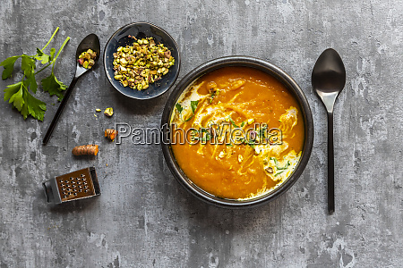 sweet potato soup with curcuma coriander