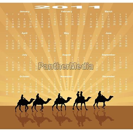 european calendar 2011 starting from mondays