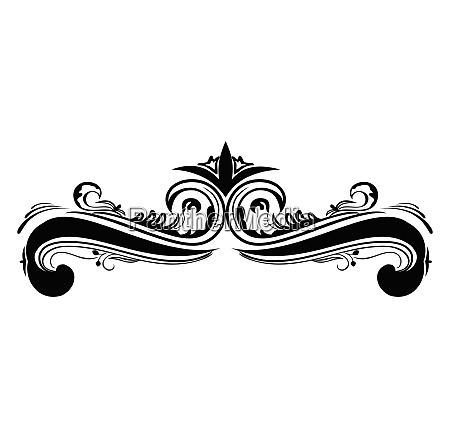 swirl element for design and decorate