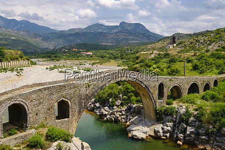 albania shkoder arch bridge ura e
