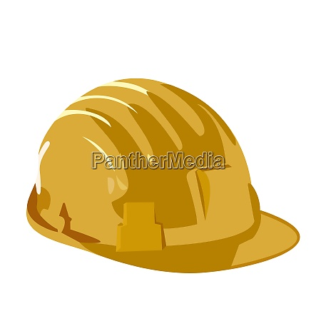 vector illustration of helmet is isolated