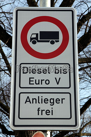 traffic sign in hamburg germany prohibiting