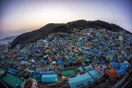 busan gamcheon culture village sunset