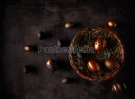 black and gold eggs