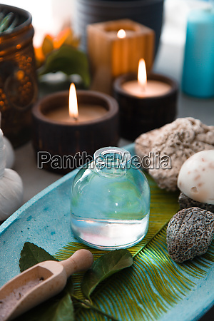 spa products in natural setting
