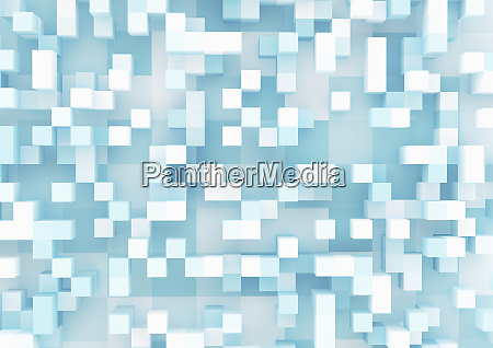 three dimensional cube grid pattern