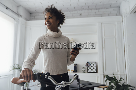 mid adult woman leaving her home