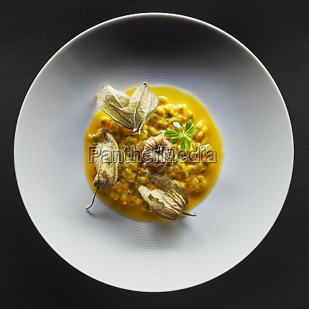 passion fruit with physalis