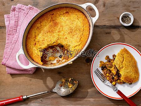 cornbread tamale pie beef black beans