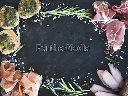 a still life of appetisers with