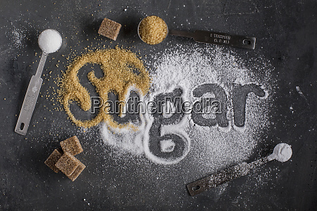 three types of sugar and the