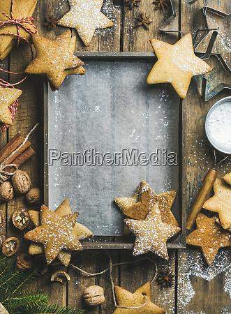 gingerbread cookies sugar powder nuts spices