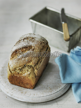 crusty homemade bread just out of