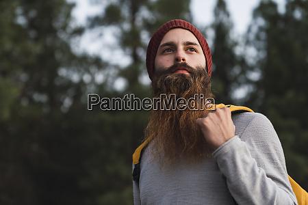 portrait of bearded man in a