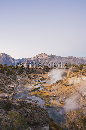 usa california hot creek in mammoth
