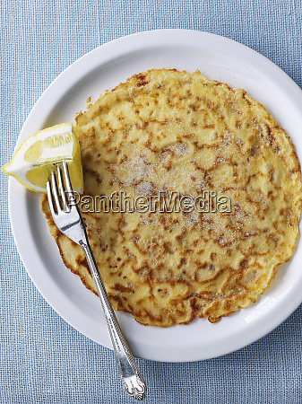 crepe suzette with lemon and sugar