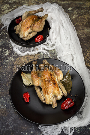 roast chicken with onions garlic peppers