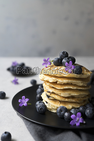 stack of appetizing tasty crumpets with