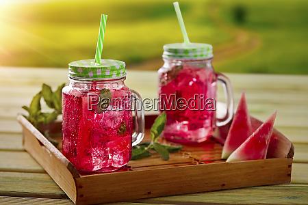 refreshing watermelon lemonade