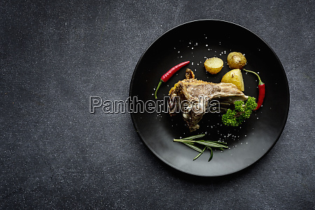 roast lamb with potatoes