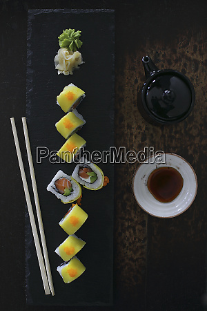 mango roll with cream cheese and