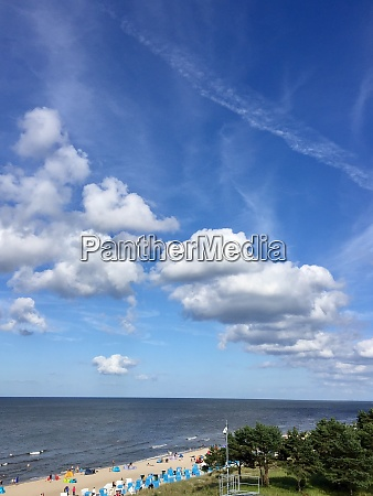 the beach of zinnowitz at the