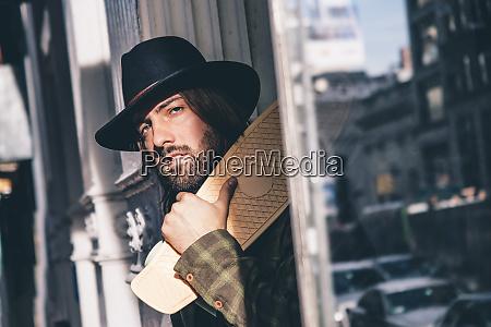 usa new york city portrait of