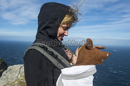 south africa cape point mother with