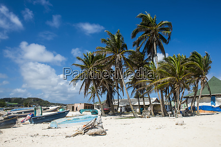 carribean colombia san andres fishing boats
