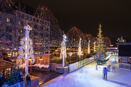 germany cologne view to christmas market
