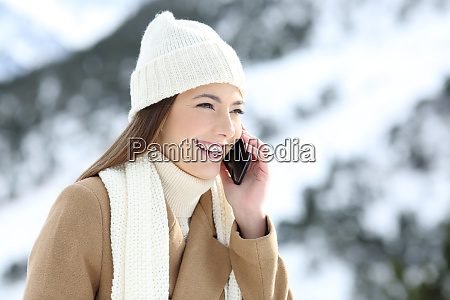 woman having a phone conversation in