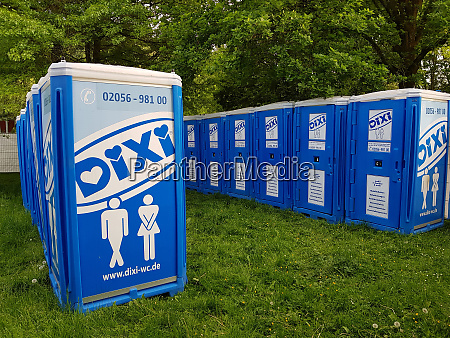 dixi mobile toilet on a music