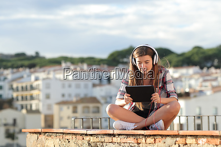 teen watching online video or e
