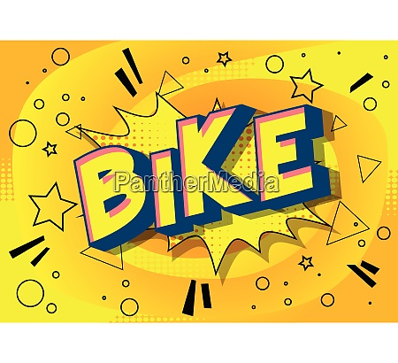 bike comic book style words