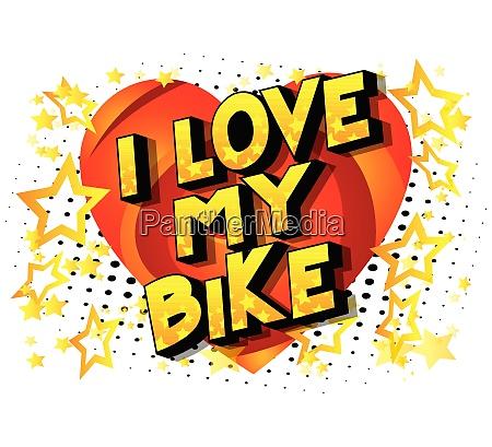 i love my bike comic