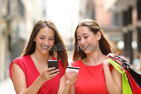 shoppers buying online with credit card