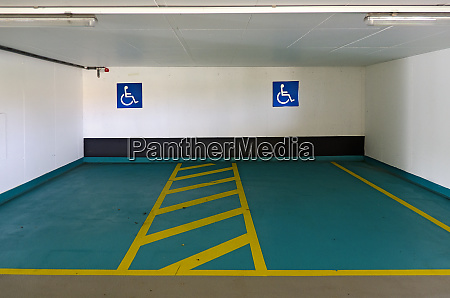 two parking spaces for the disabled