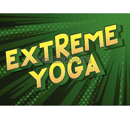 extreme yoga comic book style